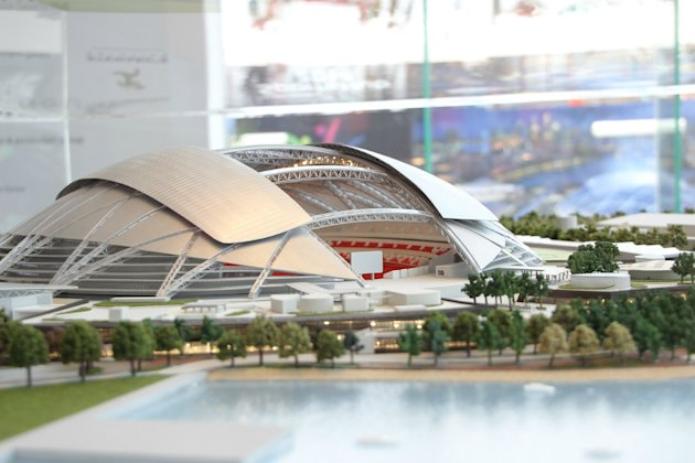 The National Stadium will be ready in 2014. (Yahoo! photo)