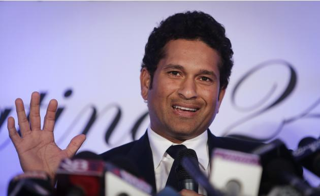 Indian cricket player Tendulkar speaks during a news conference a day after his retirement in Mumbai