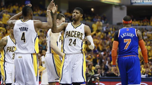 NBA - Pacers edge ahead of Knicks; Grizzles subdue Thunder