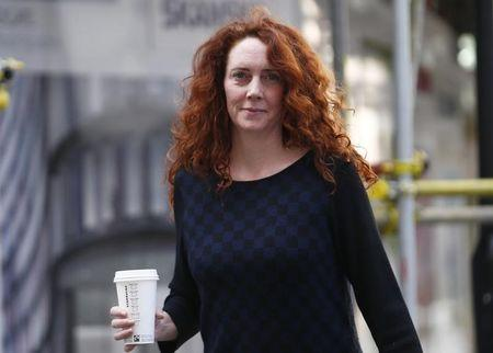 Former News International executive Rebekah Brooks arrives at the Old Bailey in central London April 1 , 2014. REUTERS/Andrew Winning