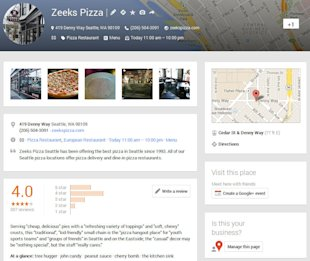 Google Plus SEO: The Business Benefits image google plus local page