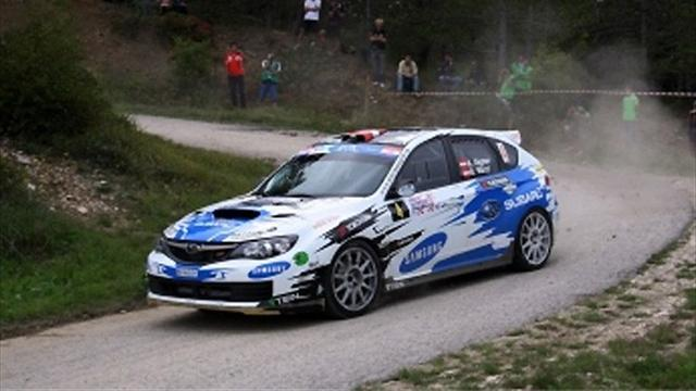 ERC - Stohl star closing on ERC Production Car Cup at Sanremo