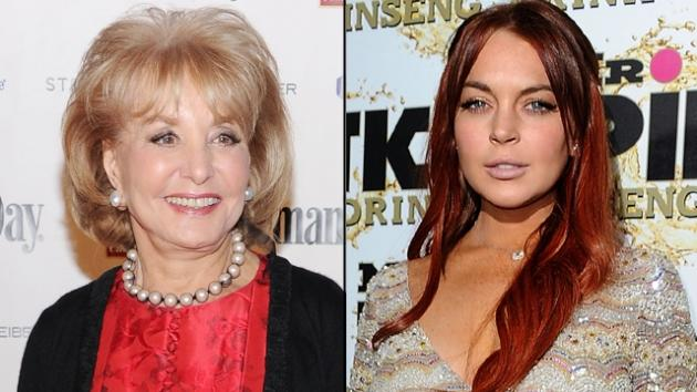Barbara Walters, Lindsay Lohan -- Getty Images