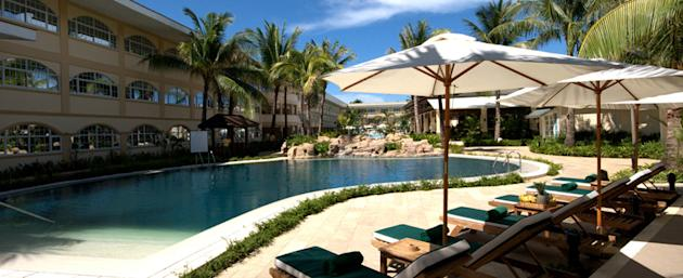 One of the four pools in Boracay Garden resort
