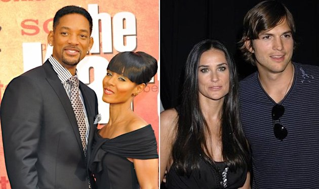 Will Smith y Jada Pinkett; Demi Moore y Ashton Kutcher.