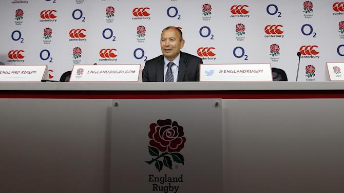 England head coach Eddie Jones during the press conference