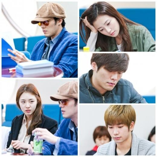 So Ji Sub, Lee Yeon Hee, Choi Daniel, MBLAQ's G.O. Hold Script Reading for 'Ghost'