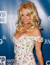 LOS ANGELES, CA - JANUARY 12: Actress Pamela Anderson attends the 2nd Annual Sean Penn and Friends Help Haiti Home Gala benefiting J/P HRO presented by Giorgio Armani at Montage Hotel on January 12, 2013 in Los Angeles, California. (Photo by Imeh Akpanudosen/Getty Images)