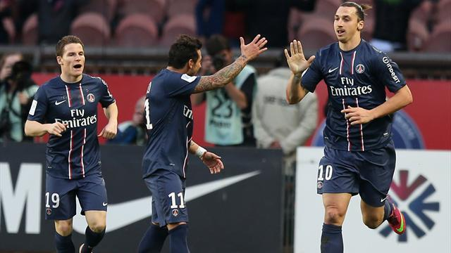 Ligue 1 - Ibrahimovic double sends PSG five points clear
