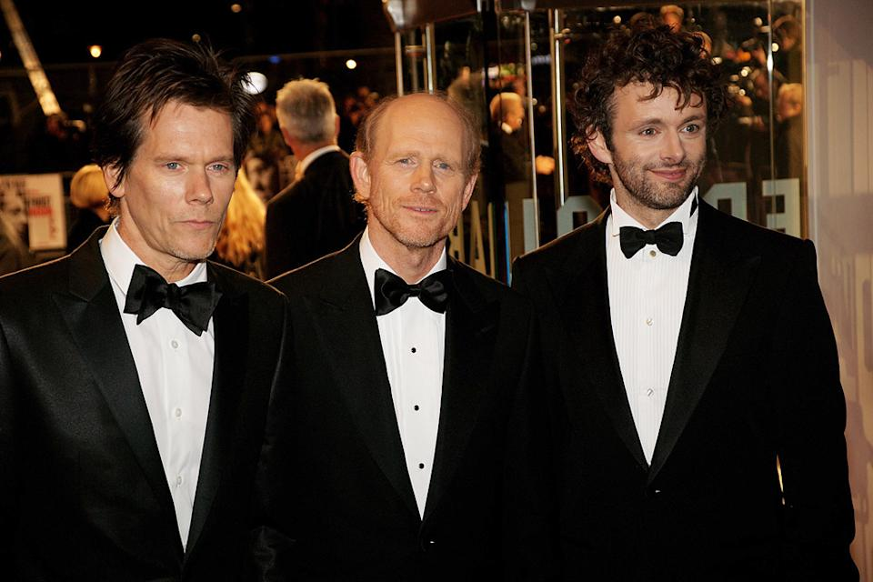 Frost_Nixon London Premiere 2008 Kevin Bacon Ron Howard Michael Sheen
