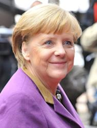 "German Chancellor Angela Merkel arrives at EU headquarters in Brussels, on February 8, 2013. German Chancellor Angela Merkel said the deal ""was worth the effort"" and she ""was glad that everyone showed the needed willingness to compromise."""