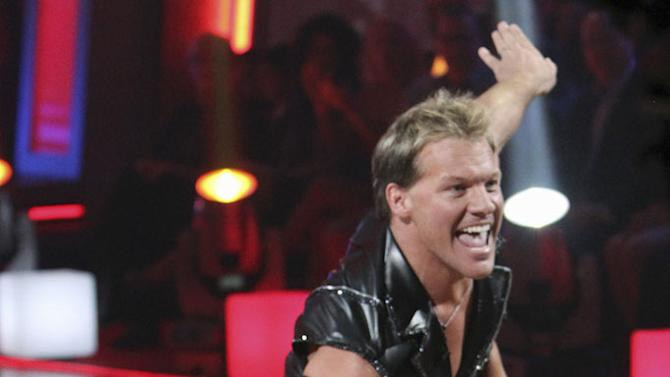 """Chris Jericho and Cheryl Burke perform the Cha-Cha-Cha on """"Dancing with the Stars."""""""
