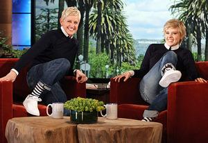Ellen DeGeneres, Kate McKinnon | Photo Credits: Michael Rozman/Warner Bros
