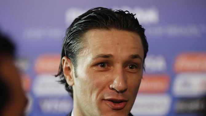 Croatia head coach Nico Kovac answers journalists' questions after the draw ceremony for the 2014 soccer World Cup in Costa do Sauipe near Salvador, Brazil, Friday, Dec. 6, 2013