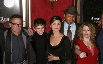 Robin Williams , Freddie Highmore , Keri Russell , Terrence Howard and director Kirsten Sheridan at the New York City premiere of Warner Bros. Pictures' August Rush