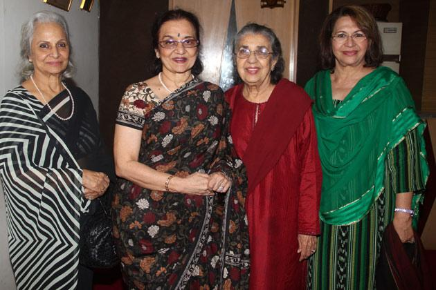 Evergreen divas at a special screening 'Heroine'