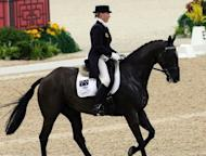 Megan Jones of Australia rides on her horse in Hong Kong in 2007. Australia's Olympic equestrian hopes took a fresh knock Thursday when Jones was forced out through an injury to her horse, just days after she replaced an earlier withdrawal