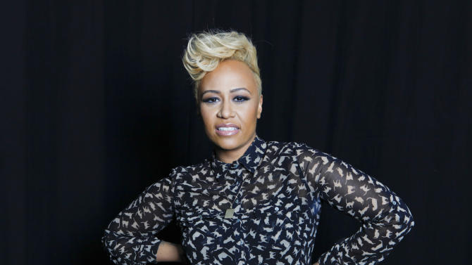 "In this April 25, 2012 file photo, Scottish soul and R&B recording artist Emeli Sandé poses for a portrait in New York. Sande has married boyfriend Adam Gouragine. Sande's U.S. representative confirmed that the R&B singer tied the knot with her longtime beau. No more details were provided. The 25-year-old released her debut, ""Our Versions of Events,"" in July. (AP Photo/Amy Sussman, file)"