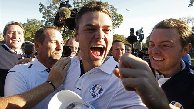 Kaymer feels new high in Ryder Cup clincher