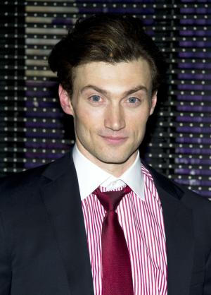 """FILE - This March 15, 2012 file photo shows actor Bryce Pinkham after the initial performance of the Broadway musical """"Ghost"""", in New York. Producers said Monday, July 29, 2013, that Pinkham will star opposite Tony Award-winner Jefferson Mays in the musical """"Gentleman's Guide to Love and Murder"""" beginning performances on Oct. 22 at the Walter Kerr Theatre in New York. (AP Photo/Charles Sykes, File)"""