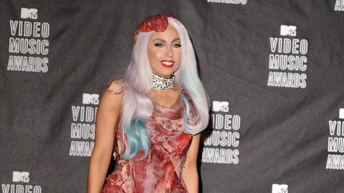 """Lady Gaga Answers Age-Old Question, """"Where's the Beef?"""" (2010)"""