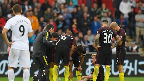 Pep Guardiola confirms Kevin De Bruyne injury in Manchester City's 3-1 win over Swansea City