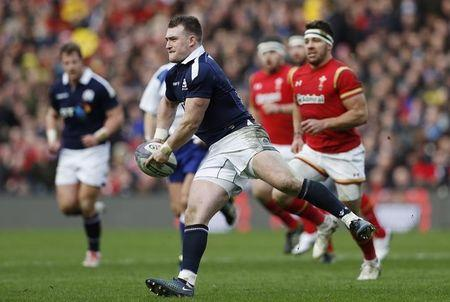 Scotland's Stuart Hogg in action