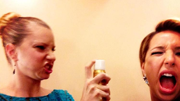 Heather Morris and Vanessa Lengies