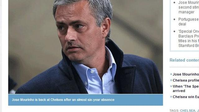 "Premier League - Peinliche Panne: ""Mourinho is back!"""