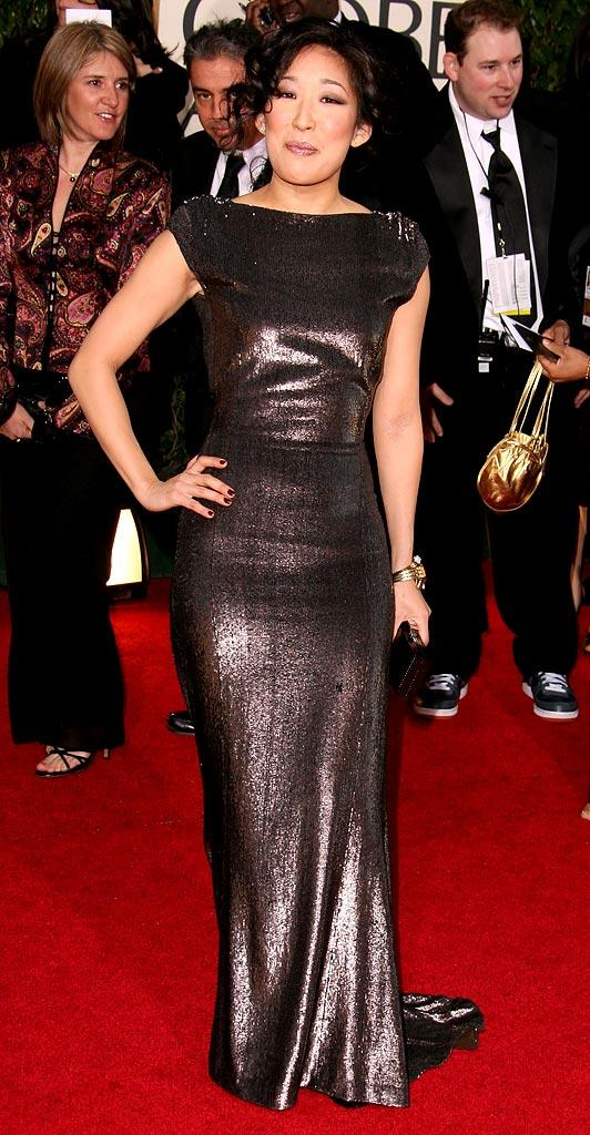 Sandra Oh at the 64th annual Golden Globe Awards.