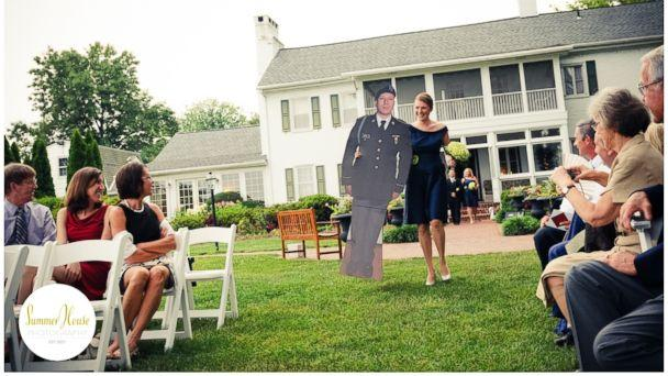 Cardboard Cutout Wedding Guests