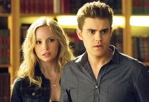 Candice Accola and Paul Wesley | Photo Credits: Bob Mahoney/The CW