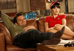 Jake Johnson and Zooey Deschanel | Photo Credits: Greg Gayne/FOX