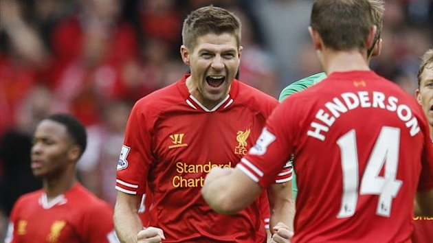 Steven Gerrard and Jodran Henderson of Liverpool (Reuters)