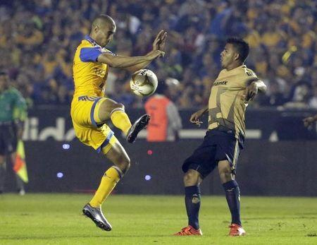 Football Soccer - Tigres v Pumas - The first leg of their Mexican first division final soccer match