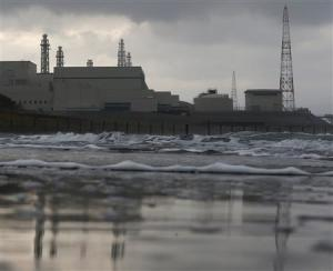 File photo of Tokyo Electric Power Co.'s Kashiwazaki Kariwa nuclear power plant, seen from a seaside in Kashiwazaki