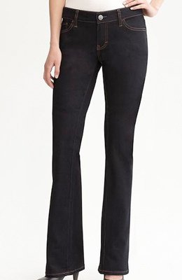 Banana Republic curvy dark-wash boot-cut jeans