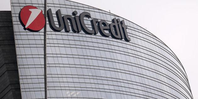 The Unicredit logo on the Unicredit tower is pictured in Milan on November 7, 2017. / AFP PHOTO / MARCO BERTORELLO (Photo credit should read MARCO BERTORELLO/AFP/Getty Images)
