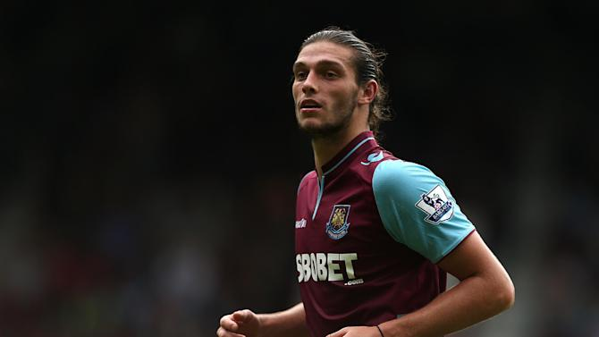 Andy Carroll's West Ham career has been hampered by a hamstring injury
