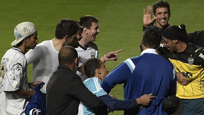 World Cup - Argentina-Brazil rivalry spills over into training
