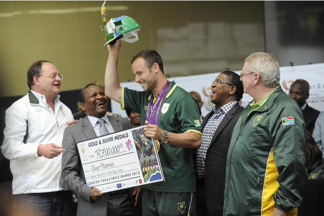 SA Paralympic team arrival at O.R Tambo International Aiport in Johannesburg, South Africa