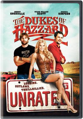 The box art from Warner Bros. Pictures' unrated DVD release of The Dukes of Hazzard