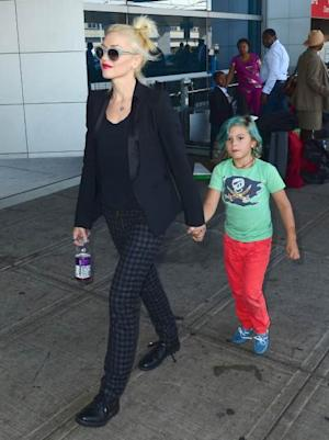 Gwen Stefani and Kingston Rossdale are seen at JFK airport on July 24, 2012 in New York City -- FilmMagic