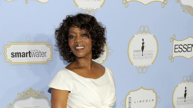Actress Alfre Woodard, recipient of the Vanguard Award, poses at the 6th Annual Black Women in Hollywood Luncheon at the Beverly Hills Hotel on Thursday, Feb. 21, 2013 in Los Angeles. (Photo by Chris Pizzello/Invision/AP)