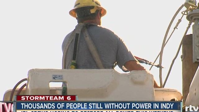 IPL restoring power to people in Indianapolis