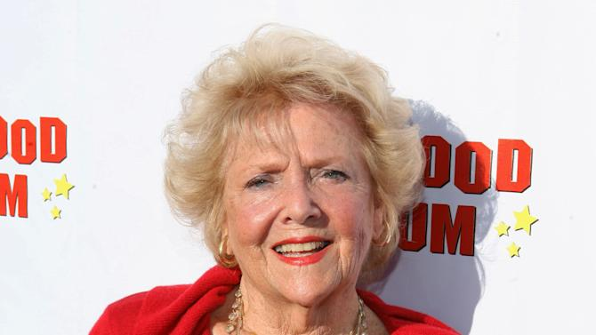 """FILE - This Aug. 4, 2011 file photo originally released by CBS DVD shows actress Doris Singleton arriving at the """"Lucille Ball At 100 & 'I Love Lucy' At 60"""" opening gala at The Hollywood Museum in Los Angeles. Singleton, who played Lucy and Ricky Ricardo's neighbor on """"I Love Lucy,"""" died Tuesday June 26, 2012. She was 92. (AP Photo/CBS DVD, Casey Rodgers)"""