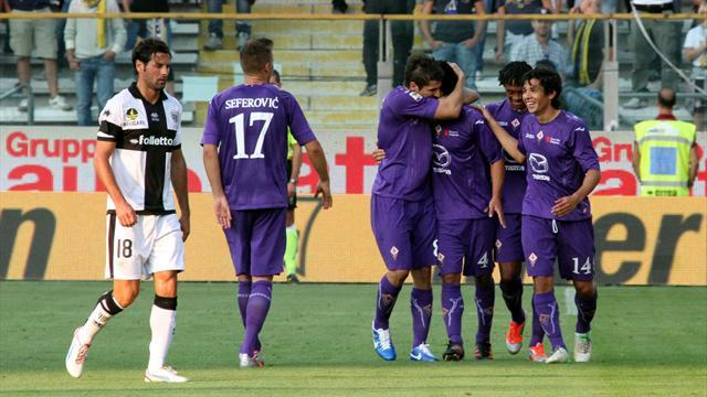 10-man Parma snatch late draw against Fiorentina