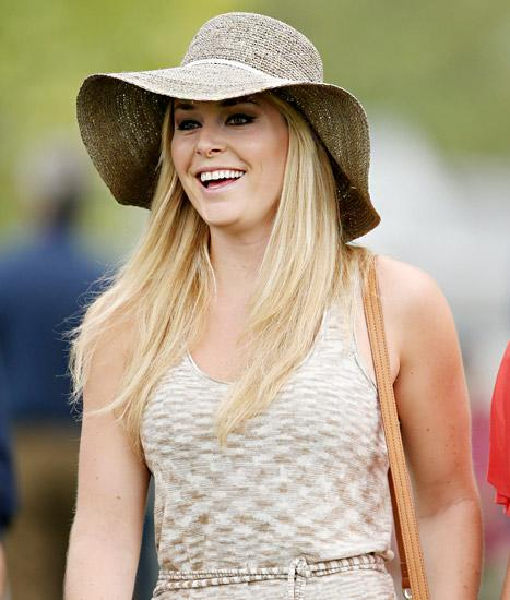 Lindsey Vonn Watches Boyfriend Tiger Woods Play Golf at the Masters in Augusta: Picture