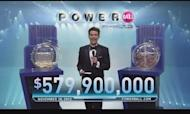 Powerball Lottery: Two Tickets Share \$580m
