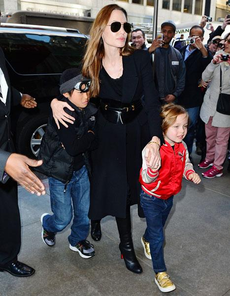 Angelina Jolie's Youngest Son Knox Looks All Grown Up at FAO Schwarz Visit
